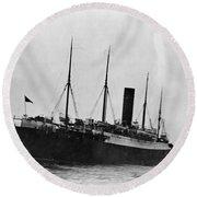 Titanic: The Carpathia, C1912 Round Beach Towel