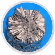 Titanium Crystals Round Beach Towel