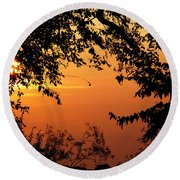 Tn Sunrise Round Beach Towel