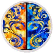 To Harness The Moon And The Sun Round Beach Towel