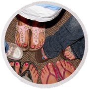 Toes In Round Beach Towel