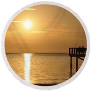 Together At Sunset Round Beach Towel