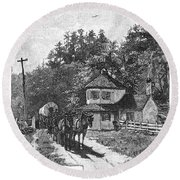 Toll Gate, 1879 Round Beach Towel