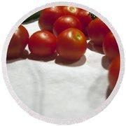 Tomato And Cucumber 1 Round Beach Towel