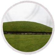 Tomb Group - Knowth - Ireland Round Beach Towel