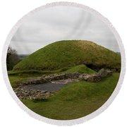 Tomb - Knowth - Ireland Round Beach Towel