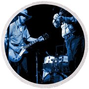 Tommy And Charlie Play Some Blues At Winterland In 1975 Round Beach Towel
