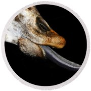 Tongue Work Two Round Beach Towel