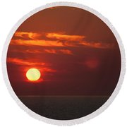 Top End Sunset  Round Beach Towel