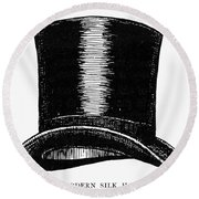 Top Hat, 1900 Round Beach Towel
