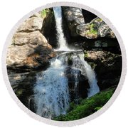 Top Of Kent Falls Round Beach Towel