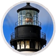 Top Of Lighthouse Round Beach Towel