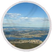 Top Of Mount Wellington Tasmania Round Beach Towel