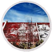 Top Of The World Round Beach Towel