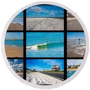 Topsail Island Images Round Beach Towel