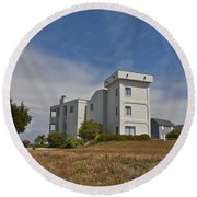 Topsail Island Observation Tower 1 Round Beach Towel