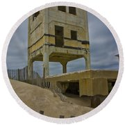 Topsail Island Observation Tower 6 Round Beach Towel