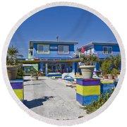 Topsail Island Patio Playground Round Beach Towel