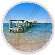 Topsail Island Sound Round Beach Towel
