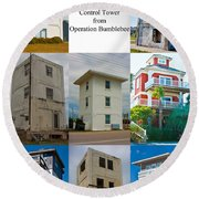 Topsail Island Towers Round Beach Towel