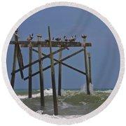 Topsail Ocean City Pelicans Round Beach Towel