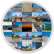 Topsail Visual Contemporary Quilt Series II Round Beach Towel
