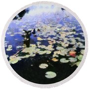 Torch River Water Lilies 3.0 Round Beach Towel