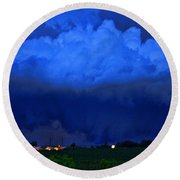Tornado Over Madison 4 Round Beach Towel
