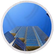 Toronto Financial Core Buildings Round Beach Towel