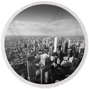 Toronto From Above Round Beach Towel