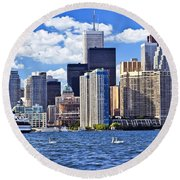 Toronto Waterfront Round Beach Towel