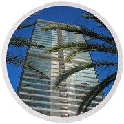 Torre Mapfre - Barcelona Round Beach Towel