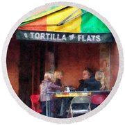 Tortilla Flats Greenwich Village Round Beach Towel