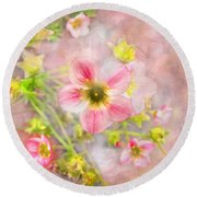 Touch Of Spring Round Beach Towel