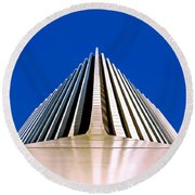 Touch The Sky Round Beach Towel