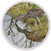 Touching Nose To Nose Round Beach Towel