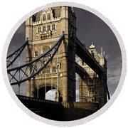 Tower Bridge Round Beach Towel by David Pyatt