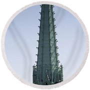 Tower Of Cathedral Round Beach Towel