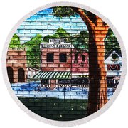 Town Wall Art Round Beach Towel