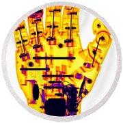 Toy Robotic Hand X-ray Round Beach Towel
