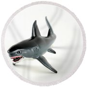 Toy Shark Round Beach Towel by Photo Researchers, Inc.