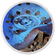 Tractor Seat Close Up Round Beach Towel