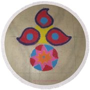 Tradition Reflection Round Beach Towel