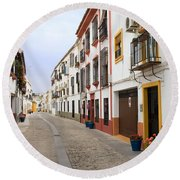 Traditional Houses In Cordoba Round Beach Towel