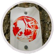 Trail Art - Fish Bowl Round Beach Towel