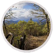 Trail At Cathedral Hills Round Beach Towel