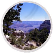 Trail To The Canyon Round Beach Towel