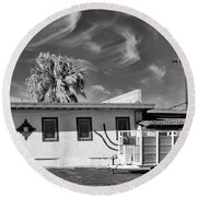 Trailer Town 2 Bw Round Beach Towel