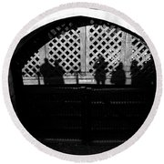 Traitors Gate And Ghostly Images  Round Beach Towel