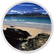 Tramore Strand And Loughros Mor Bay Round Beach Towel